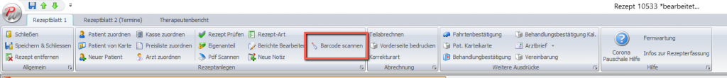 Barcode von Verordnung scannen